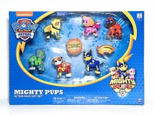 Paw Patrol Mighty Pups Action Pack 6 Pups Gift Set with Light-up Badges and Paws