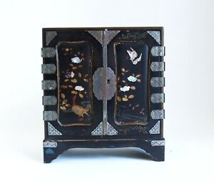 Antique Japanese 19th century lacquer small table cabinet