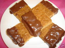 6 X LARGE HOMEMADE FLAPJACKS DIPPED IN MILK CHOCOLATE - Gluten Free