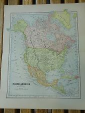 Nice colored map of North America.  Pub. in 1895 in The People's Cyclopedia.