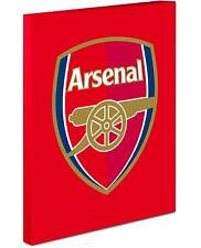 Arsenal Crest Canvas Wrap On Red