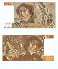 100 FRANCS DELACROIX de 1979  D. 18   Numéro  0428483168