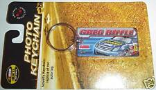 GREG BIFFLE NATIONAL GUARD RACING REFLECTIONS NASCAR METAL PHOTO KEYCHAIN RING