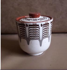 CERAMIC JAR FOR HONEY HAND MADE AMAZING AND COLOURFUL CLEY CERAMIC JAM JAR