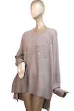 NEIMAN MARCUS ~ XL Gray STARZ Metallic Shimmer Long Slv. NWT $242.00 Sweater