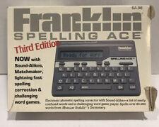 Franklin Spelling Ace Sa-98 3rd Edition English Spelling Checker w/Box Vintage