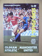 1990 FA CUP SEMI FINAL REPLAY- OLDHAM ATHLETIC v MANCHESTER UNITED, 11th April