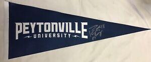 RARE - Peytonville University Signed by Peyton Manning Blue Pennant Nationwide
