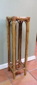 Vintage Rattan Bamboo Bent Wood Plant Stand/Side table