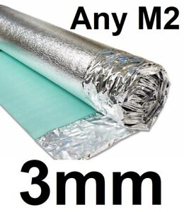 3mm Silver Acoustic Underlay - Wood or Laminate Flooring Comfort Insulation