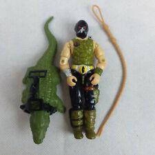 GI JOE Croc Master 1987 Figure + Accessories