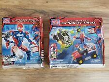 Mega Bloks The Amazing Spider Man Bridge Showdown 91346 & Stealth Techbot 91296