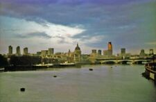 PHOTO  LONDON ST PAUL'S AND THE CITY FROM WATERLOO BRIDGE SUMMER EVENING 1976