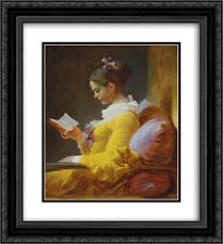 Jean Honore Fragonard 2x Matted 20x24 Framed Art Print 'A Young Girl Reading  '