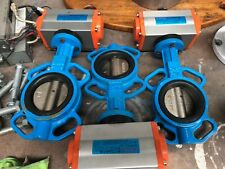 Butterfly Valve 3 inch Air Actuated 2 way Water Truck pipe valving New Ultimate