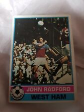 Topps Football Card 1977/1978 X John Radford X West Ham X Number 291 X