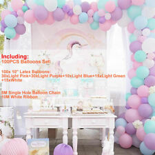 Unicorn Color Balloons+ Arch Kit Set Birthday Wedding Christmas Party Decor