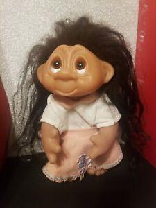 "Vintage 1977 /1985 Norfin Thomas Dam Troll doll 9"" Denmark"