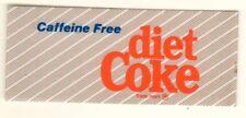 "Caffeine Free Diet Coke Vending Machine Insert, Standard Logo,  1 3/8"" x 3 3/8"""