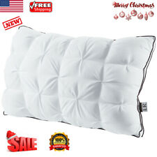 Adjustable Sleeping Bed Pillow Cushion Bread Twisted Flower Polyester Queen Home