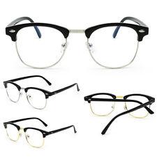 NEW Unisex Fashion Vintage Oval Clear Lens Glasses Retro Geek Eyewear Eyeglasses
