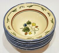 """Set of 6 Metlox Vernonware Vernon Ware GIGI Cereal Bowls - 7"""""""