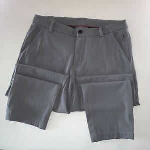 Men's Lululemon Activewear Athliesure Logo Commuter Pants Gray Size 33