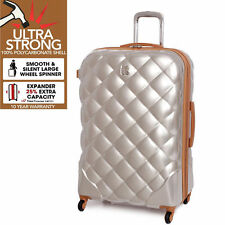 It Luggage Saint Tropez Medium 67.5cm ABS Quilted 4 Wheel Suitcase Champagne