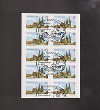Briefmarkenheftchen aus der BRD (ab 1945) mit Bauwerks-Motiv