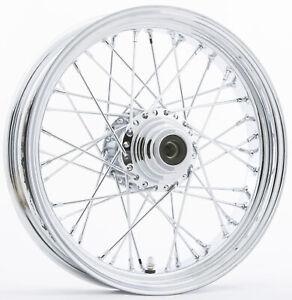 "Front 40 Spoke Wheel 16x3.5 Single Disc 3/4"" 051-02411 For 86-99 Harley FLST"
