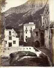 Sommer, Italia, Amalfi, Panorama Vintage albumen print,  Tirage albuminé