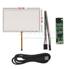 "7"" 4 Wire Resistive Touch screen Panel Digitizer/USB Kit For AT070TN93 AT070TN92"