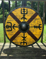 Medieval Wood & Metal Knight Shield Handcrafted Viking Shield Armor Halloween