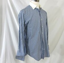 Polo by Ralph Lauren Philip Blue Checked Mens Shirt Size 15.5 33 French Cuffs