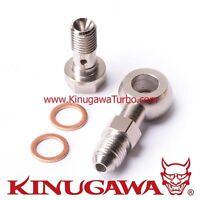 Kinugawa Turbo Oil Feed M12 x P1.5 mm to 4AN fit VOLVO 740 850 / SAAB TD04 Turbo