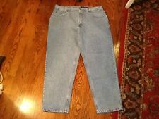Eddie Bauer Mens Denim Jeans Faded Blue Relaxed Fit 40 x 30 Cotton NWT