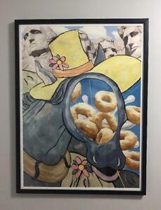 """Jeff Koons """"Cut Out"""" 2000 Framed Digital Flex Print Signed & Numbered 39/1000"""