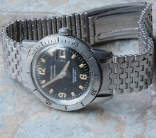 Swiss NSA dive watch band 1960s beads 18mm curved ends to Bulova Waterproof 666
