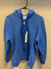 Champion Woman's L ECO FLEECE Full Zip Hoodie Sweatshirt Jackets Blue