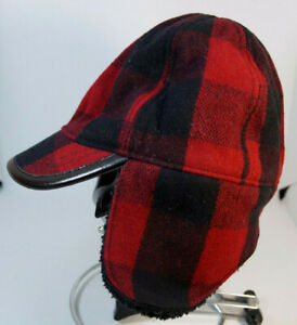 BABY GAP Infant Toddler Lumberjack Cap Children's Red Black Buffalo Plaid Hat