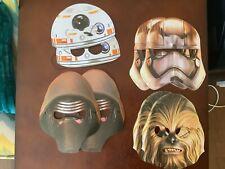 Star Wars Paper Masks 8 pack Birthday Party Chewbacca Kylo Ren BB8 Phasma