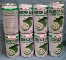 SOURSOP JUICE, 8 CANS x 350ml FOCO DRINK, Jugo De Guanabana