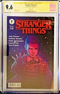 CGC SS 9.6 Stranger Things #4 Comic Signed Millie Bobby Brown Dark Horse