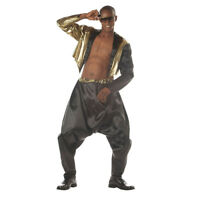 Mens 80s Rock Star Celebrity Zebra Print Pants 90s Rapper Fancy Dress One Size