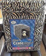 Pet Dreams Zebra Designer 2 pc Dog Crate Padding Set: Bed + Crate Walls Size L