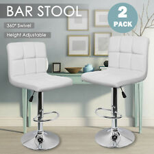 ebbf39a4123 2 Bar Stools Swivel Kitchen Breakfast Barstools Chair PU Leather Chrome Gas  Lift