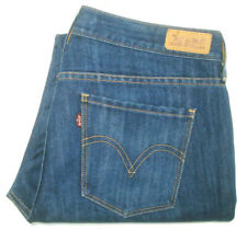LEVI'S 505 WOMENS SIZE 10 MEASURED W31 X L30 BLUE STRAIGHT LEG JEANS FREE POST