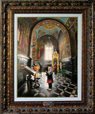 """Oil Painting PRINTED on CANVAS Arseni 9 AN ORPHAN 10,6"""" X 8"""" NO FRAME Artist Art"""