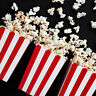 6 x RED & WHITE POPCORN BOXES | Party Bag Alternative Movie Night Kids Party