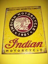 tin metal motorcycle cycle bike repair shop service garage dealer decor indian